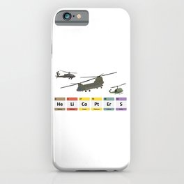Military Helicopters Chemistry iPhone Case