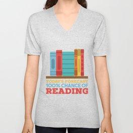 Books Reading Unisex V-Neck