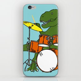 T-Rex Drummer iPhone Skin