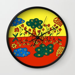 Double Nature Wall Clock