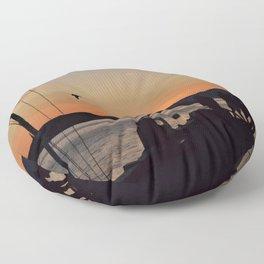 Oban Docks Floor Pillow