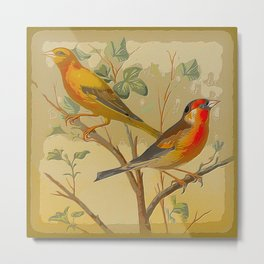 2 Birds in a Tree Metal Print
