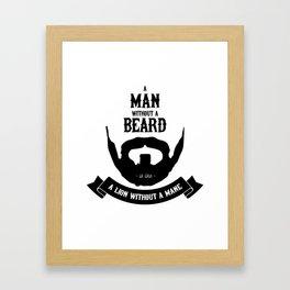A man without a beard Framed Art Print