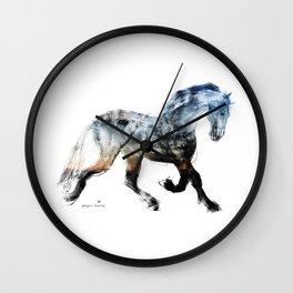 Horse (Summer Friesian) Wall Clock