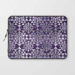 Sri Yantra  / Sri Chakra Pattern - Pearl Amethyst Laptop Sleeve