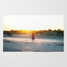 """Beach Play, Tybee Island, Georgia"" by Simple Stylings Rug"