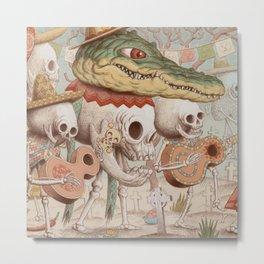 Mexican Skulls 2 Metal Print