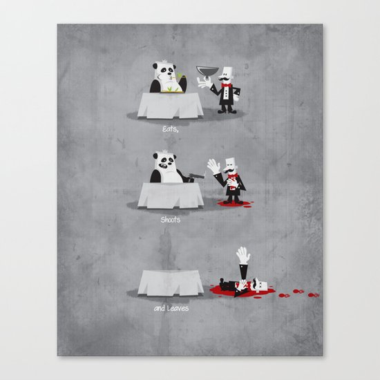 Eating Habits of the Panda Canvas Print