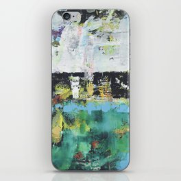 Aloe Abstract Painting Green iPhone Skin