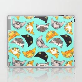 """Oro?"" Cats-Turquoise Laptop & iPad Skin"