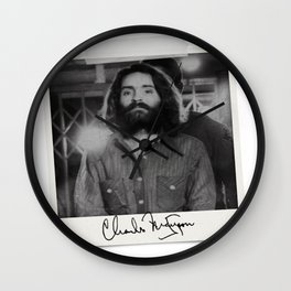 Manson Charles Signature Prison Wall Clock