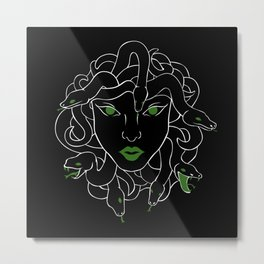 Green Gorgon Metal Print