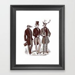 Gentlemen in the Woods Framed Art Print