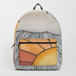 Solstice Sunshower Watercolor Painting Backpack