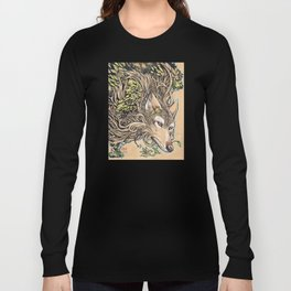 Dog of the Mountain - Honshu Wolf Long Sleeve T-shirt