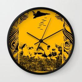 No fly zone. Wall Clock