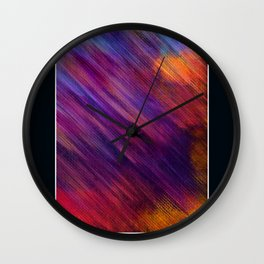 Interaction of Colors Digital Painting Wall Clock