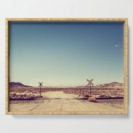 Railroad Crossing California desert Serving Tray