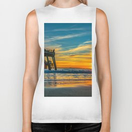 Sunset Splash Biker Tank