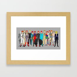 Gray Heroes Group Fashion Outfits Framed Art Print