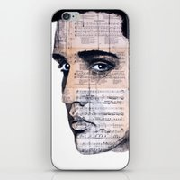 elvis iPhone & iPod Skins featuring Elvis by Krzyzanowski Art