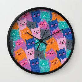 A Bunch of Cats Wall Clock
