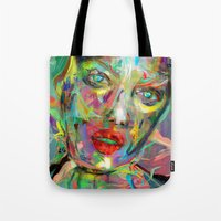 archan nair Tote Bags featuring Ultraviolet Drops by Archan Nair