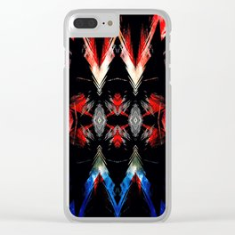 Shifted Red, White, & Blue Clear iPhone Case