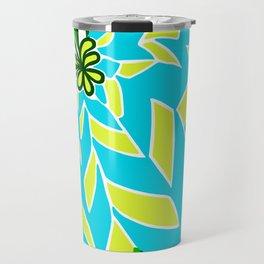 BAYAMO: BLUE GREEN DREAM, Art Deco Tropical Travel Mug