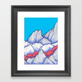 The Ice White Rocks Framed Art Print