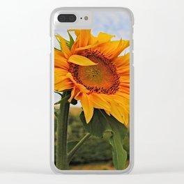 Sunrise Sunflower Clear iPhone Case