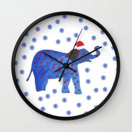 Holidays Elephant Wall Clock
