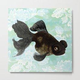 Black Goldfish Metal Print