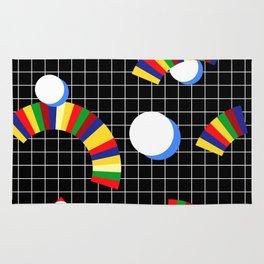 Memphis Grid & Rainbows Rug