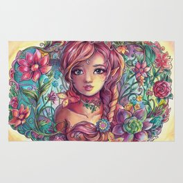 Spring Young Fairy Rug