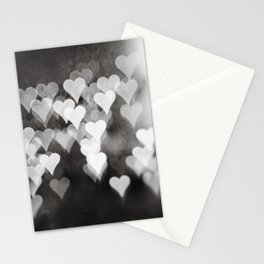 Black and White Heart Photography, Hearts Love Picture Grey Neutral Bedroom, Abstract Nursery Photo Stationery Cards