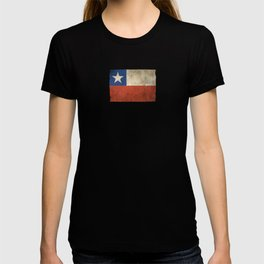 Old and Worn Distressed Vintage Flag of Chile T-shirt