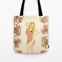 dancer Tote Bags featuring DANCER by Nora