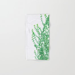 Green creepers climbing the wall Hand & Bath Towel