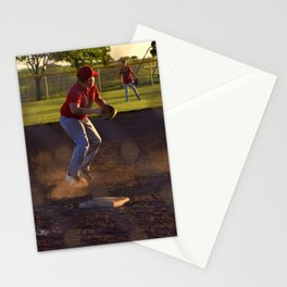 Baseball Action Stationery Cards