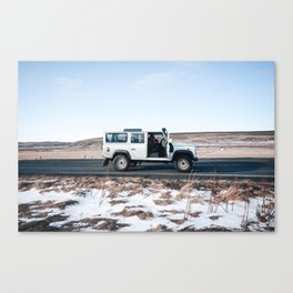 Day out shoting in Iceland Canvas Print