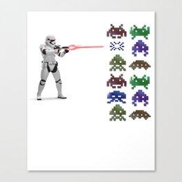 Invaders wars Canvas Print