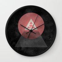 illuminati Wall Clocks featuring Illuminati by Ed Burczyk