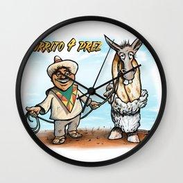 Burrito 4 Prez Wall Clock