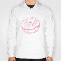 doughnut Hoodies featuring Doughnut by Katy V. Meehan