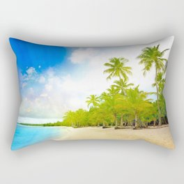 Palm Island Sunrise Rectangular Pillow