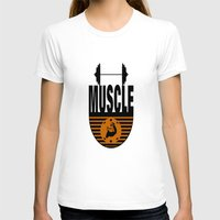 muscle T-shirts featuring MUSCLE II by Robleedesigns