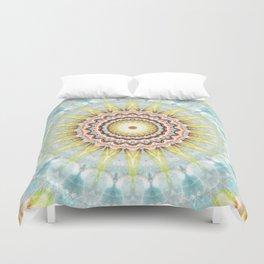 Mandala wintersun Duvet Cover