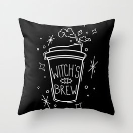 Witch's Brew Coffee Throw Pillow