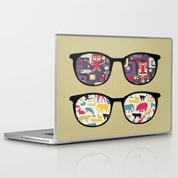 old school Laptop & iPad Skins featuring Old School  by Lyre Aloise